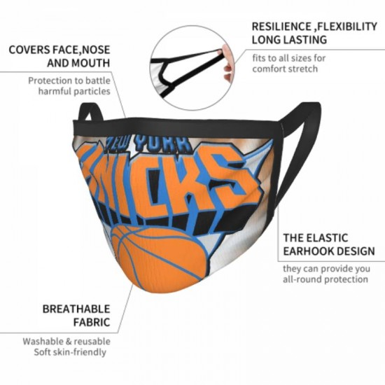 Sun protection NBA New York Knicks Adult black border face masks #320590 Suitable for Exercise, Cycling